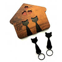 Ключниця для будинку Пара котиків.