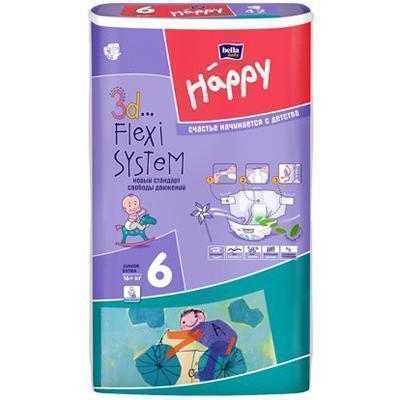 Подгузники Happy Junior Extra 6 (16+ кг) 54 шт