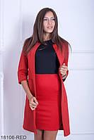 Жіночий кардиган з неопрену Подіум Esma 18106-RED S Червоний