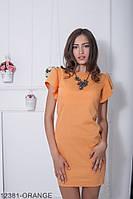 Жіноче плаття Подіум Medeola 12381-ORANGE S Помаранчевий