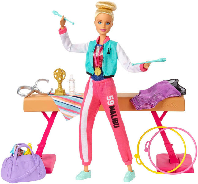 Barbie Барби гимнастка серии You can be GJM72 Gymnastics Twirling Feature
