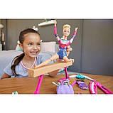 Barbie Барби гимнастка серии You can be GJM72 Gymnastics Twirling Feature, фото 6