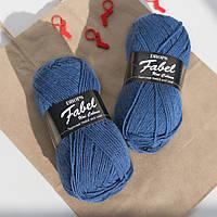 Носочная пряжа Drops Fabel - Uni print, 108 royal blue