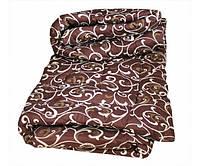 Одеяло двуспальное евро шерстяное Лери Макс вензель (молоко на кофе)
