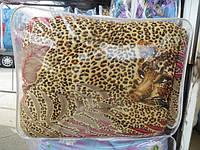 Одеяло полуторное шерстяное тигровое Лери Макс