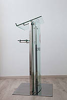 Кафедра (трибуна) из стекла и нержавеющей стали
