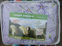 Полуторное шерстяное одеяло Лери Макс GOLD цветы