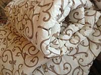 Двуспальное шерстяное одеяло Лери Макс GOLD вензель штрих