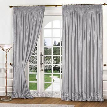 Готовые шторы цвет серый ткань в зал спальню
