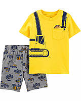 Детский летний костюм - шорты и футболка Грузовики Картерс для мальчика