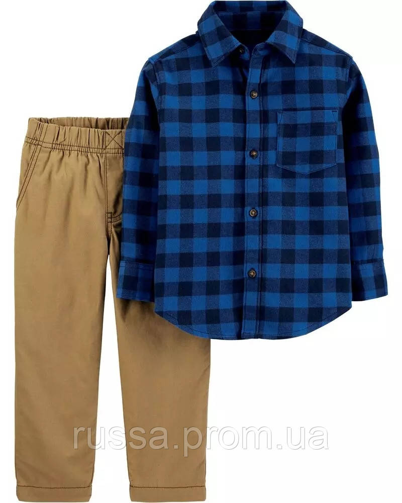 Комплект рубашка и штанишки Картерс для мальчика