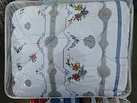 Двуспальное шерстяное одеяло Лери Макс GOLD - маленькие цветы