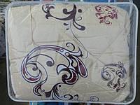 Двуспальное шерстяное одеяло Лери Макс GOLD коричневая абстракция