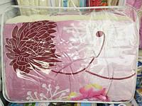 Одеяло полуторное шерстяное Лери Макс сирень абстракция
