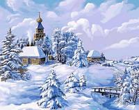 Картина по номерам Зима в деревне. Худ. Виктор Цыганов, 40x50 см., Babylon