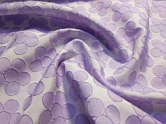 Ткань Жаккард нарядный цветочный, сиреневый