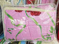 Одеяло полуторное шерстяное Лери Макс розовое