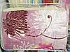 Ковдра вовняна Євро розміру Лері Макс бузкова абстракція