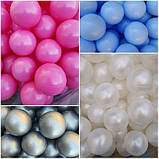 Кульки для сухого басейну 8 см 100шт м'які, фото 6