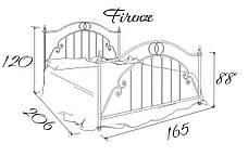 Кровать металлическая Флоренция / Firenze Bella Leto, фото 3