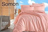 Шикарный комплект постельного белья Altinbasak кораллового цвета Турецкое производство Сатин