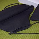 Маска с кармашком трехслойная защитная многоразовая хлопковая  черная, фото 6