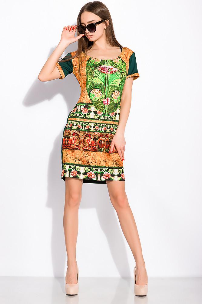 Платье женское 120P122 (Изумрудный)