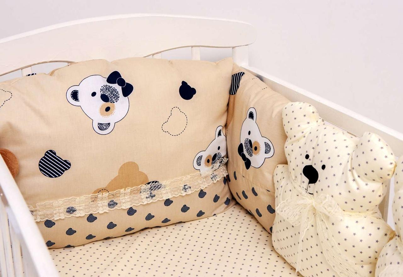 Детский постельный набор Бэйби-беж сатин SKL20-240445