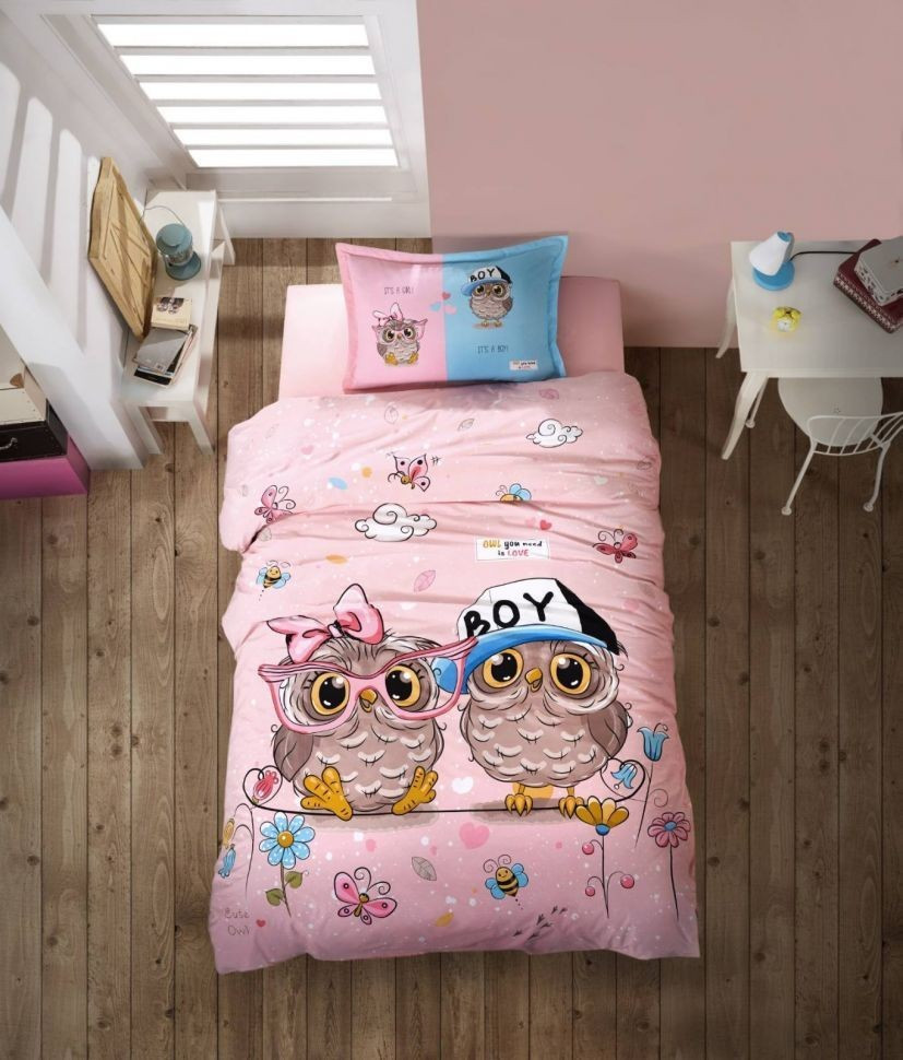 Подростковое постельное белье Aran Clasy Puhu Совы 160x220 SKL53-239721