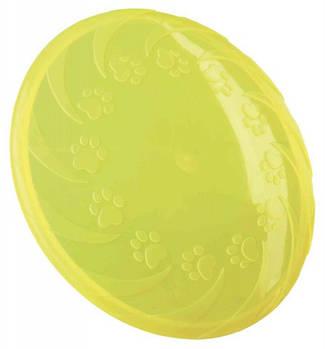 Игрушка для собак trixie летающая тарелка термопластрезина, 18 см