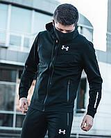 Спортивный костюм + МАСКА Under Armour x black мужской  весенний осенний | ЛЮКС качества
