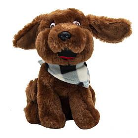 М'яка іграшка Щеня зимовий, 21 см, коричневий, (M1622221-1)