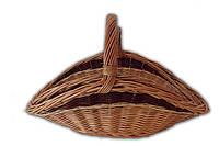 Плетеная дровница из лозы