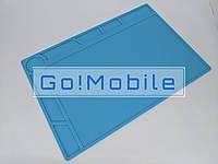 Коврик на стол силиконовый термоустойчивый для разборки и пайки порт. техн. S-120 (340x230мм)