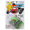 Игрушка инерционная - мышонок-гонщик Aohua, машинка в форме арбуза 4,5 см, пластик (MR-12C-9), фото 2
