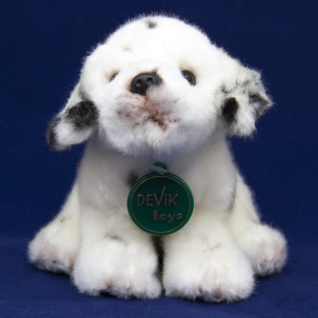Мягкая игрушка - собачка далматинец, 16 см, белый, полиэстер (JD-2555D)