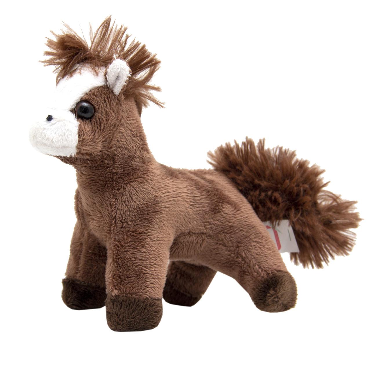 Мягкая игрушка - лошадка, 13 см, коричневый, полиэстер (Z1220113-1)