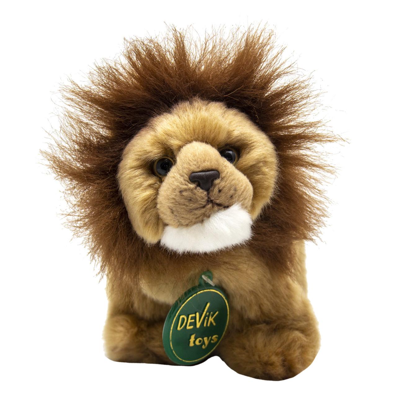 Мягкая игрушка - лев, 15 см, бежевый, полиэстер (JT-159)