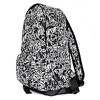 Рюкзак городской спортивный с принтом черно белый