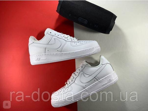 Кроссовки кеды белые кожаные Nike Air Force / Найк Аир Форс размеры 36-45 мужские, подростковые.