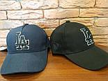 Коттоновая бейсболка с вышивкой спереди и кожаным логотипом сбоку 1207242, фото 2