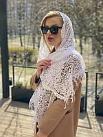 Свадебный ажурный шарф белый  50*170