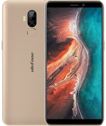 Смартфон UleFone P6000 Plus 3/32Gb Gold, 6350mAh, 8+5/2Мп, 2sim, экран 6'' IPS, 4 ядра, 4G (LTE)