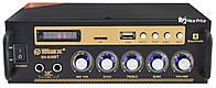 Усилитель звука MAX SN-838BT MP3 FM Bluetooth Black/Gold (4004)