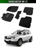 3D Коврики Dacia Duster '09-17. Текстильные автоковрики Дачия Дастер Дача