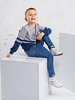 Детский свитшот для мальчика серого цвета размер 110,116,122,128,134