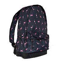 Рюкзак городской с принтом фламинго молодёжный