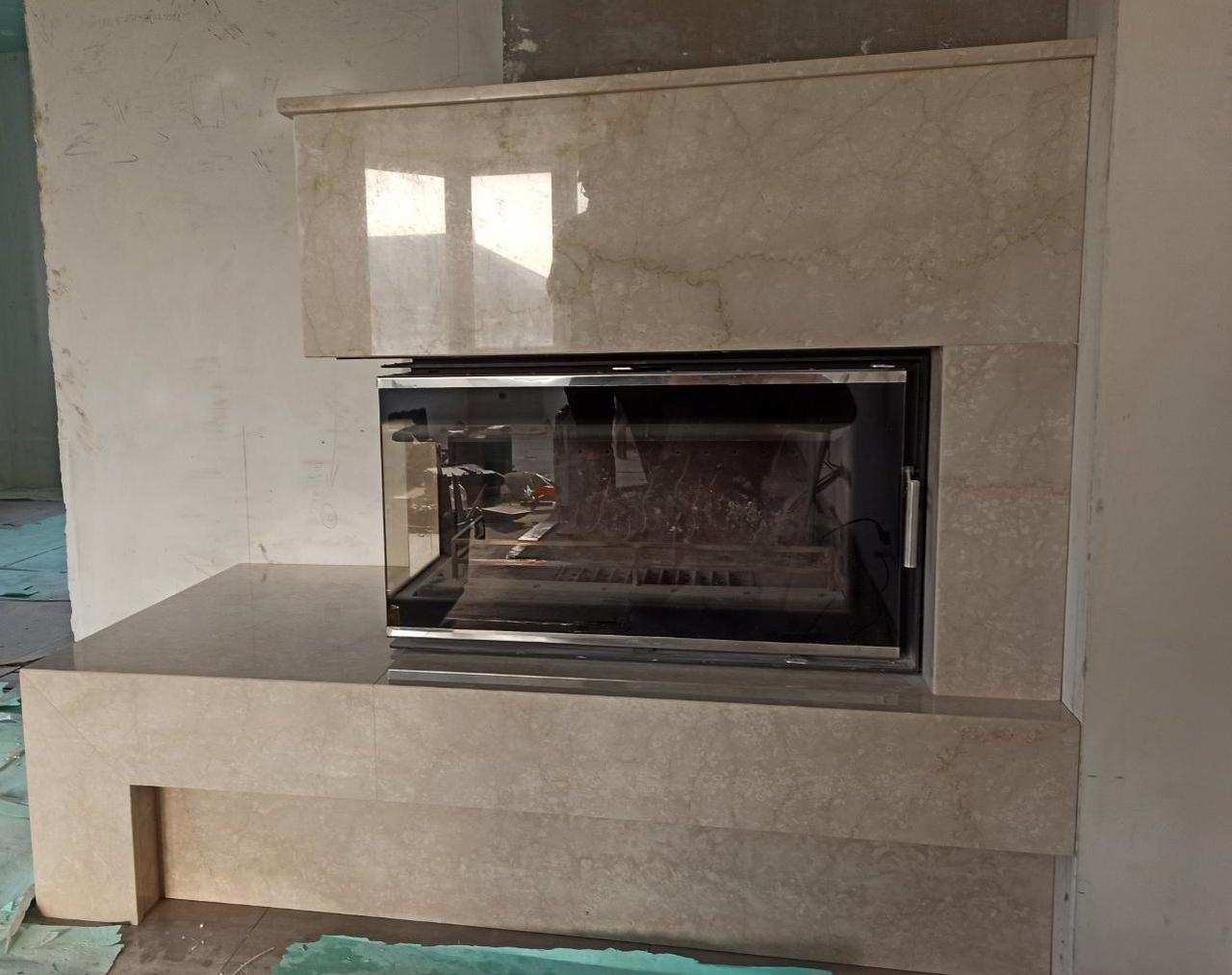 Портал каминный (облицовка) из мрамора