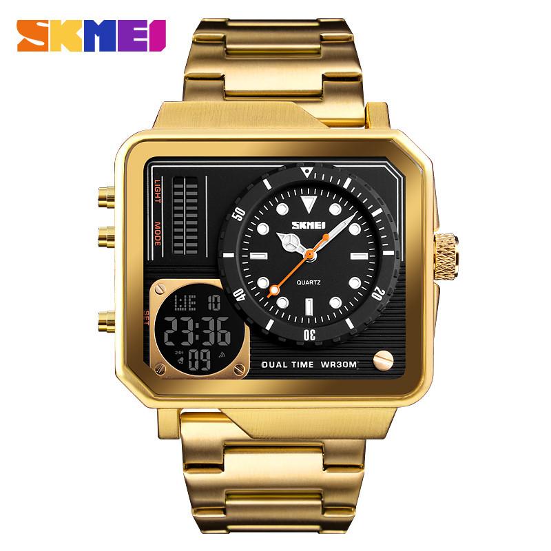 Skmei 1392 золотые мужские спортивные часы
