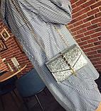 Серебристая сумка кроссбоди, фото 2